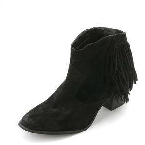 Marc Fisher Sade Leather Ankle Cowboy Boots